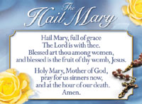Image for Hail Mary Chart Laminated